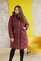 Женская удлиненная куртка в больших размерах с капюшоном r31BR321
