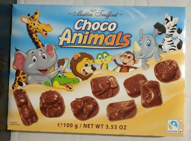 Шоколадные конфеты Maitre Truffout Choco Animals, 100г