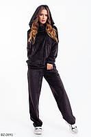 Женский велюровый костюм (черный, синий)