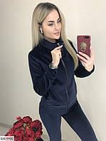 Женский теплый велюровый костюм
