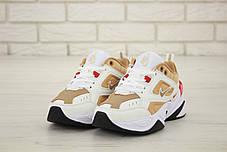Женские кроссовки в стиле Nike M2k Tekno White/Gold, фото 3