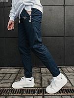 Штаны джоггеры темно-синие на резинке Staff navy light SNT0139