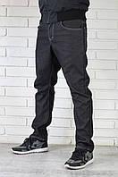 Чоловічі чорні джинси утеплені, фото 1