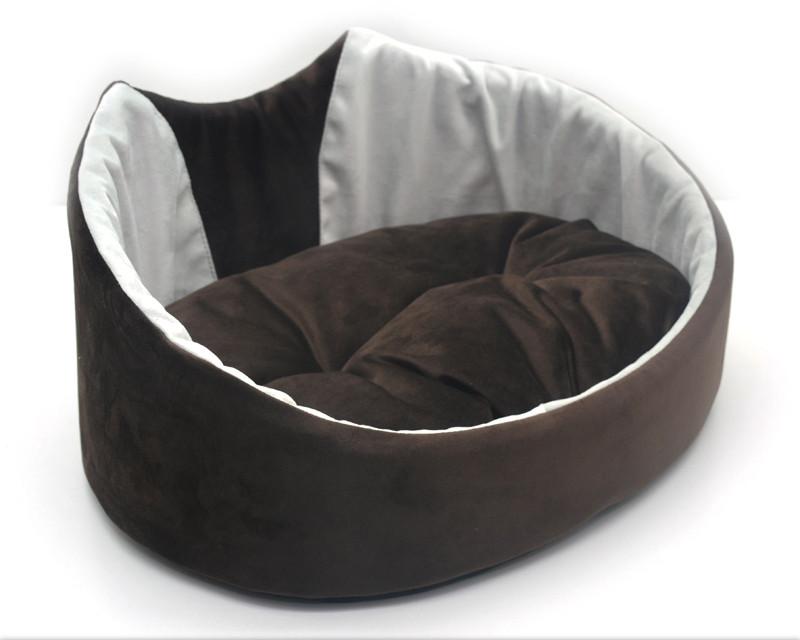 Лежак для собак и котов Мистик-котик коричневый