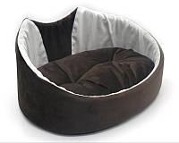 Лежак для собак и котов Мистик-котик коричневый, фото 1