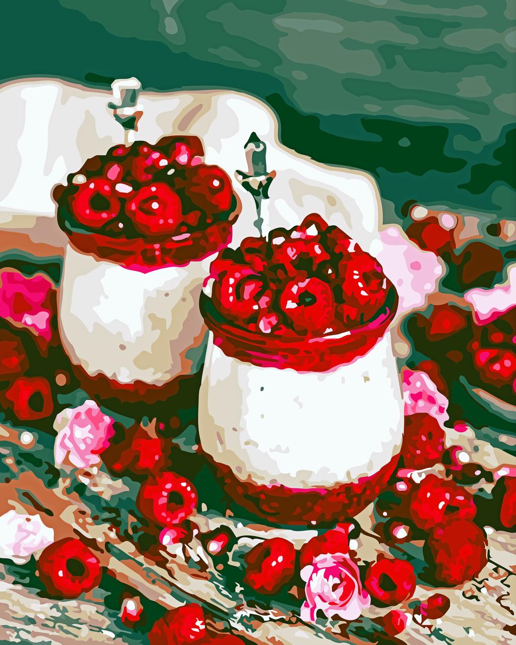 Художественный творческий набор, картина по номерам Малиновый десерт, 40x50 см, «Art Story» (AS0591)