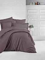 Комплект постельного белья Aran Clasy сатин Strip Kahverengi