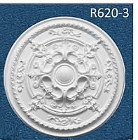 """R620-3 Розетка декоративная  потолочная  """"Семья"""" , D 620 мм, полистирол инжекция"""