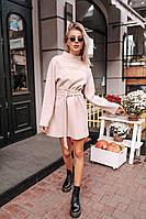 Женское платье-туника из трикотажа