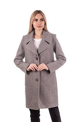 Пальто женские весенние  42-48 бежевый