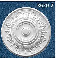 """R620-7 Розетка декоративная  потолочная  """"Семья"""" , D 620 мм, полистирол инжекция"""