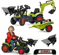 Трактор з причепом і двома ковшами Claas Arion Falk 2040N