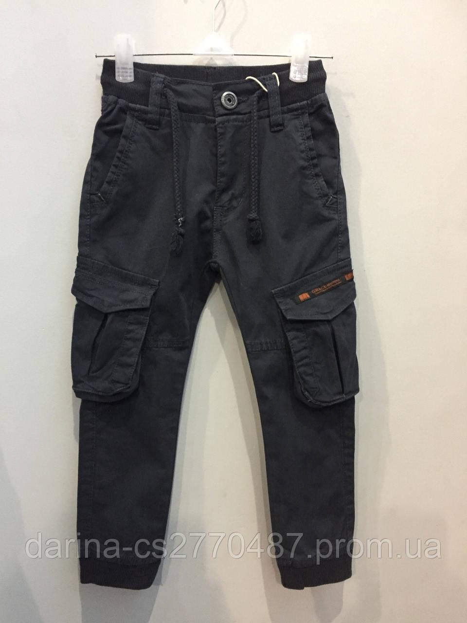 Коттоновые брюки для мальчика джоггеры 98,104,116,122,128 см
