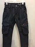 Коттоновые брюки для мальчика джоггеры 98,104,116,122,128 см, фото 2