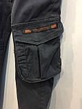 Коттоновые брюки для мальчика джоггеры 98,104,116,122,128 см, фото 3