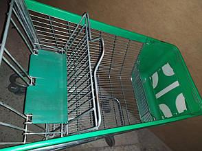 Тележки покупательские б\у WANZL P130 л с пластиковым передом, торговая тележка бу, фото 2