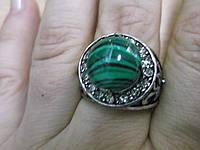 "Кольцо с малахитом ""Даринка"", размер 18, фото 1"