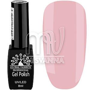 Гель лак Global Fashion №12, 8 мл нежно-розовый