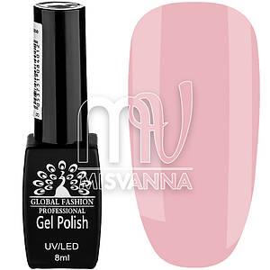 Гель лак Global Fashion №62, 8 мл нежно-розовый