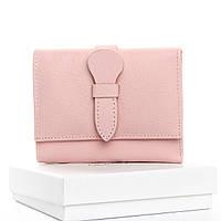 Кошелек Classic кожа DR. BOND  WS-21 pink.Женский кожаный кошелек оптом и в розницу в Украине., фото 1
