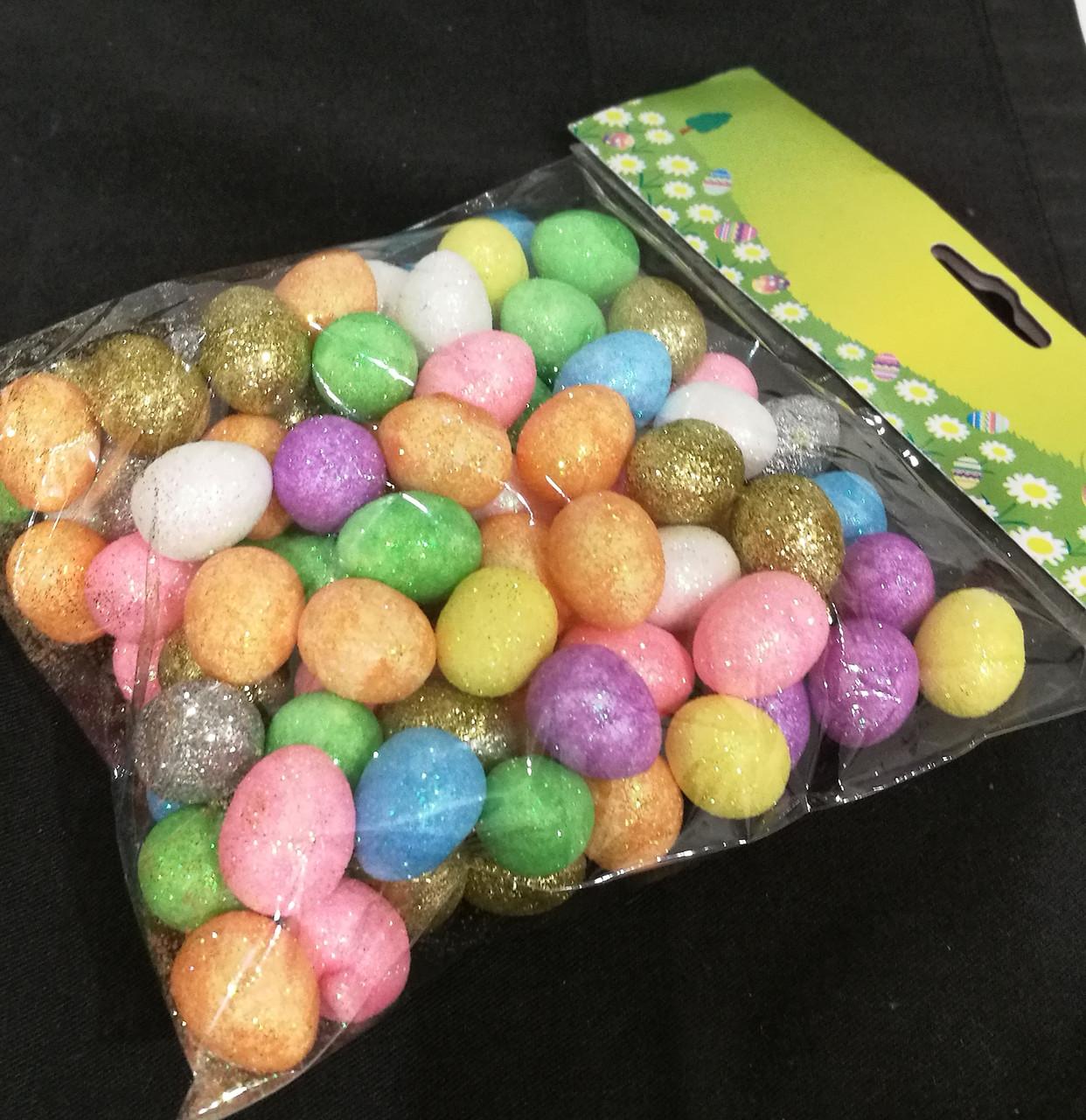 Яйцо пасхальное декоративное ( цветное) 100 шт.