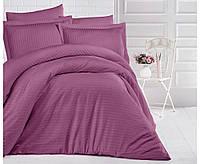 Комплект постельного белья Aran Clasy сатин Strip Gul kurusu