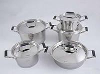 Набор посуды ELARA 10 пр. с металлическими крышками