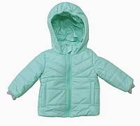 Куртка детская для девочек мятная  74, 80, 86, 92