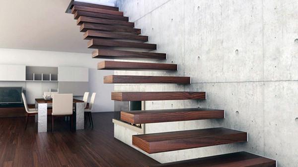 Деревянные лестницы из дерева с эффектом парения в воздухе
