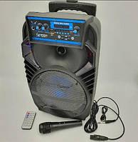 Мобильная колонка акустика с микрофоном для караоке 40 Watt SPS 801 BT TROLLY Черная