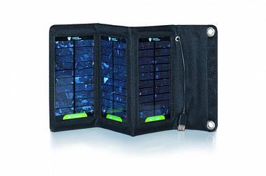 Солнечная панель Floureon 10 Вт 5 секций, складная, Выход 5В 2А. USB / micro USB