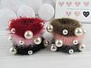 Резинки для волос травка Ø6 см с жемчугом 12 шт/уп., фото 2