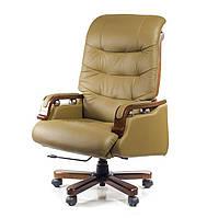 Кресло офисное кожаное АКЛАС Сфинкс EX RL бежевое