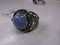 """Кольцо с голубым агатом  """"Даринка"""", размер 19 от Студии LadyStyle.Biz"""
