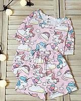 Женская пижама футболка+шорты