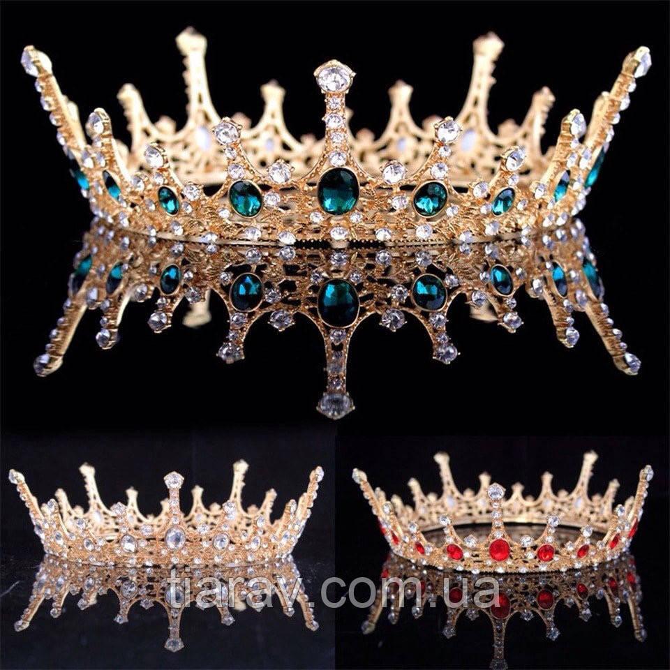 Корона кругла корона на голову, прикраси