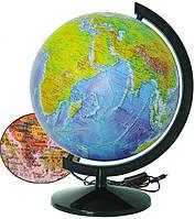 Глобус ІПТ Фізично-політичний з підсвічуванням 320 мм (4820114954077)