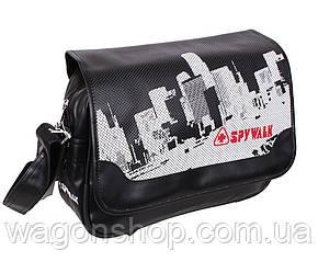 Черная сумка с рисунком