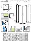 Душова кабіна прямокутна Radaway Essenza Pro KDD розпашна 🇵🇱, фото 8