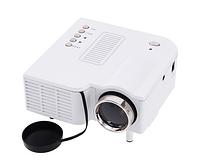 Цветной портативный светодиодный ЖК-проектор UC28 + 1080P HD 48LM 16770K с разъемом HDMI SD CARD USB VGA – бел