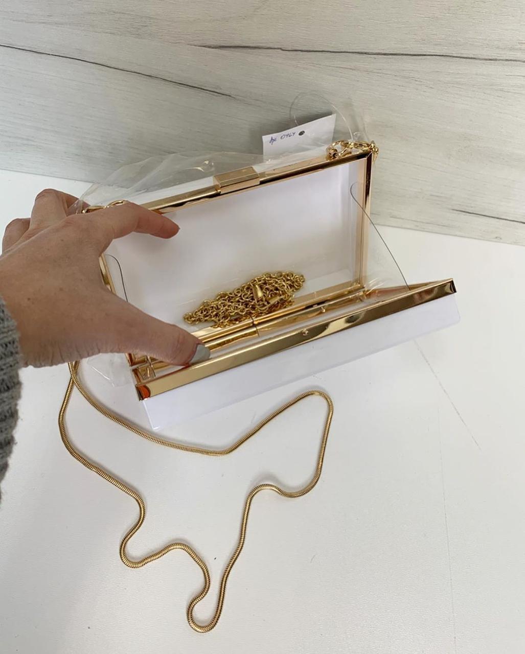 Клатч с цепочкой на плечо (0464) Прозрачный