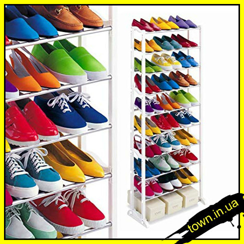 Полка для обуви на 20 пар, органайзер, стеллаж Amazing Shoe Rack