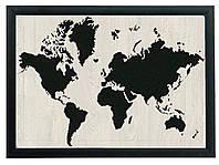 """Постер """"WORLD"""" гравировка на деревянной основе 30Х40 БЕСПЛАТНАЯ ДОСТАВКА"""