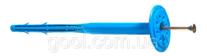 Дюбель LX вкручиваемый для пенопласта и минеральной базальтовой ваты 10х220 мм в упаковке 100 штук