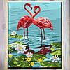 "Картины по номерам, холст на подрамнике, Животные ""Пара фламинго"" 40*50 см, без коробки"