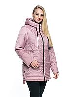 Женская, модная, весенняя удлиненная куртка большого размера р- 50, 52, 54, 56, 58, 60, 62, 64, 66 Новинка