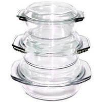 Набір скляних термокастрюль Stenson MS-0081