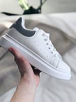 Кроссівки жіночі шкіряні, кросівки в стилі Alexander McQeen, кроссовки женсике белые, кросівки білі