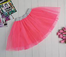 Неоновая малиновая юбка из фатина для девочки 2-9 лет