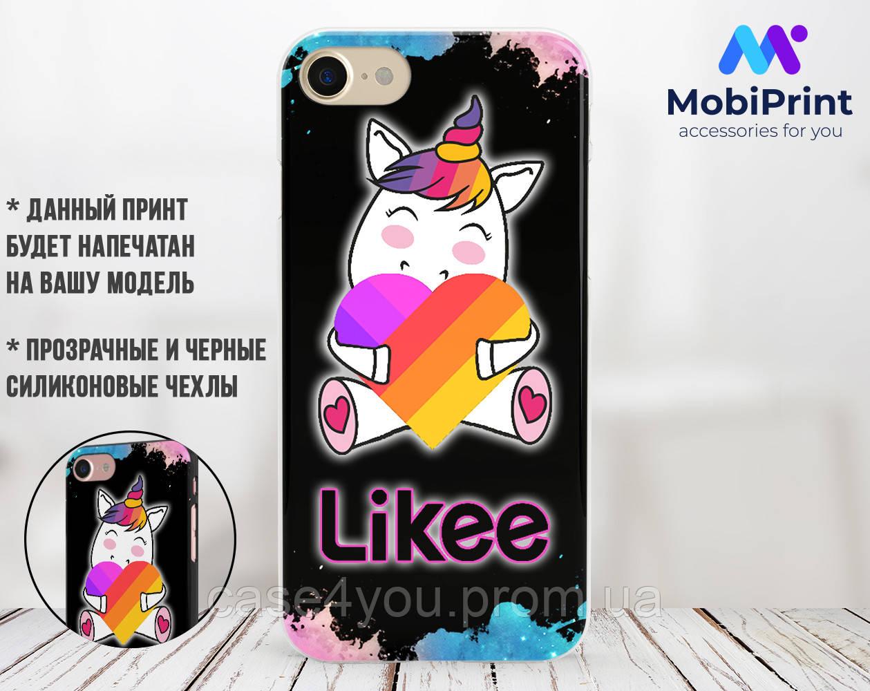 Силиконовый чехол для Apple Iphone Se Likee (Лайк) (4006-3440)